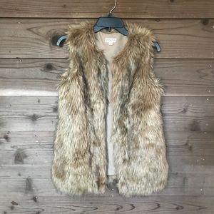Merona Faux Fur Open Vest. Sz XS. Like New